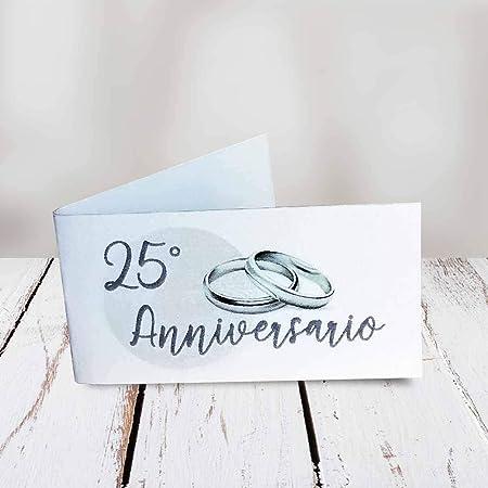 Xxv Anniversario Di Matrimonio.Kamiustore Bigliettini 25 Anniversario Di Matrimonio Neutri Set