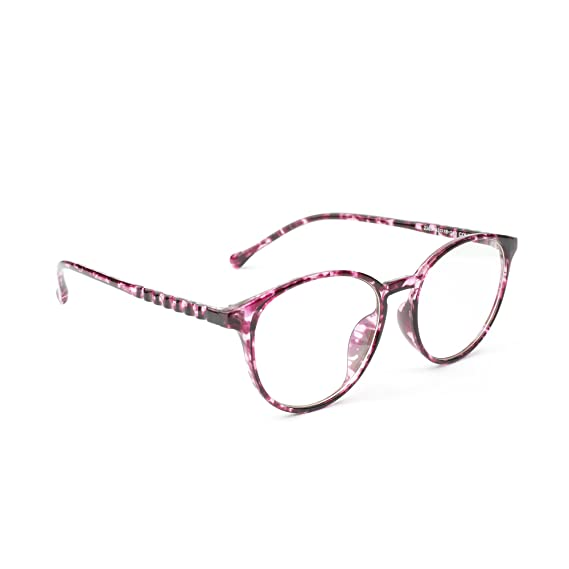 11971e2e034 Image Unavailable. Image not available for. Colour  Three Shades Full Rim Round  Shape Pink Eyewear ...