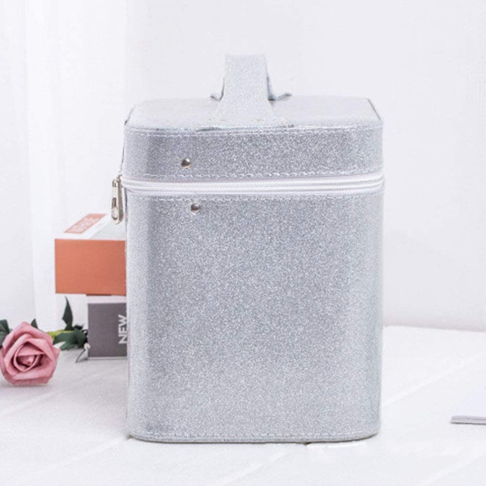 Maifa Storage Box 126 Bottle PU Exquisite Case Diamond Embroidery Handbag Solid Case Beads Non Toxic Display Zipper Accessory for Any Jewelry