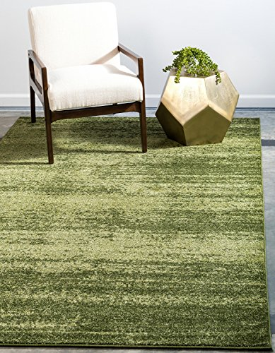 Hunter Green Area Rug - Unique Loom Del Mar Collection Contemporary Transitional Green Area Rug (5' x 8')
