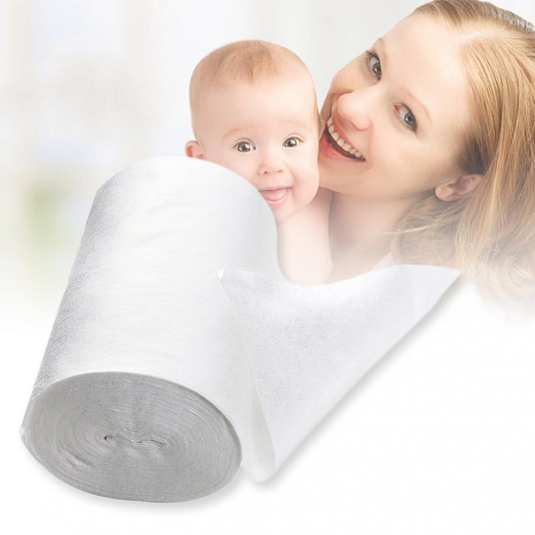Little Finger 100Blatt 1Rolle Sicherheit Bambus Faser Infant Baby Einweg-Windel Windel Einlagen