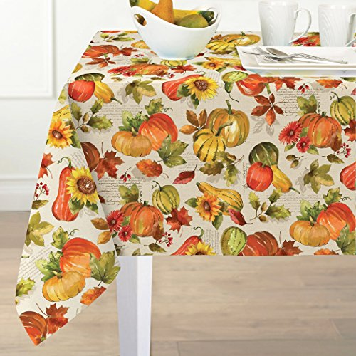 Shabby Chic Harvest Print Fabric Napkin Set No Iron And