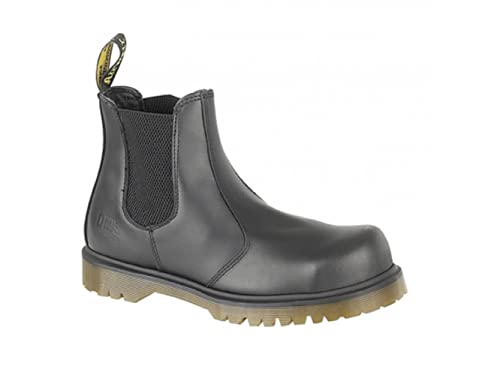 Dr. Martens Mens Industrial Chelsea BootSafety Toe Cap  Black Haircell Leather
