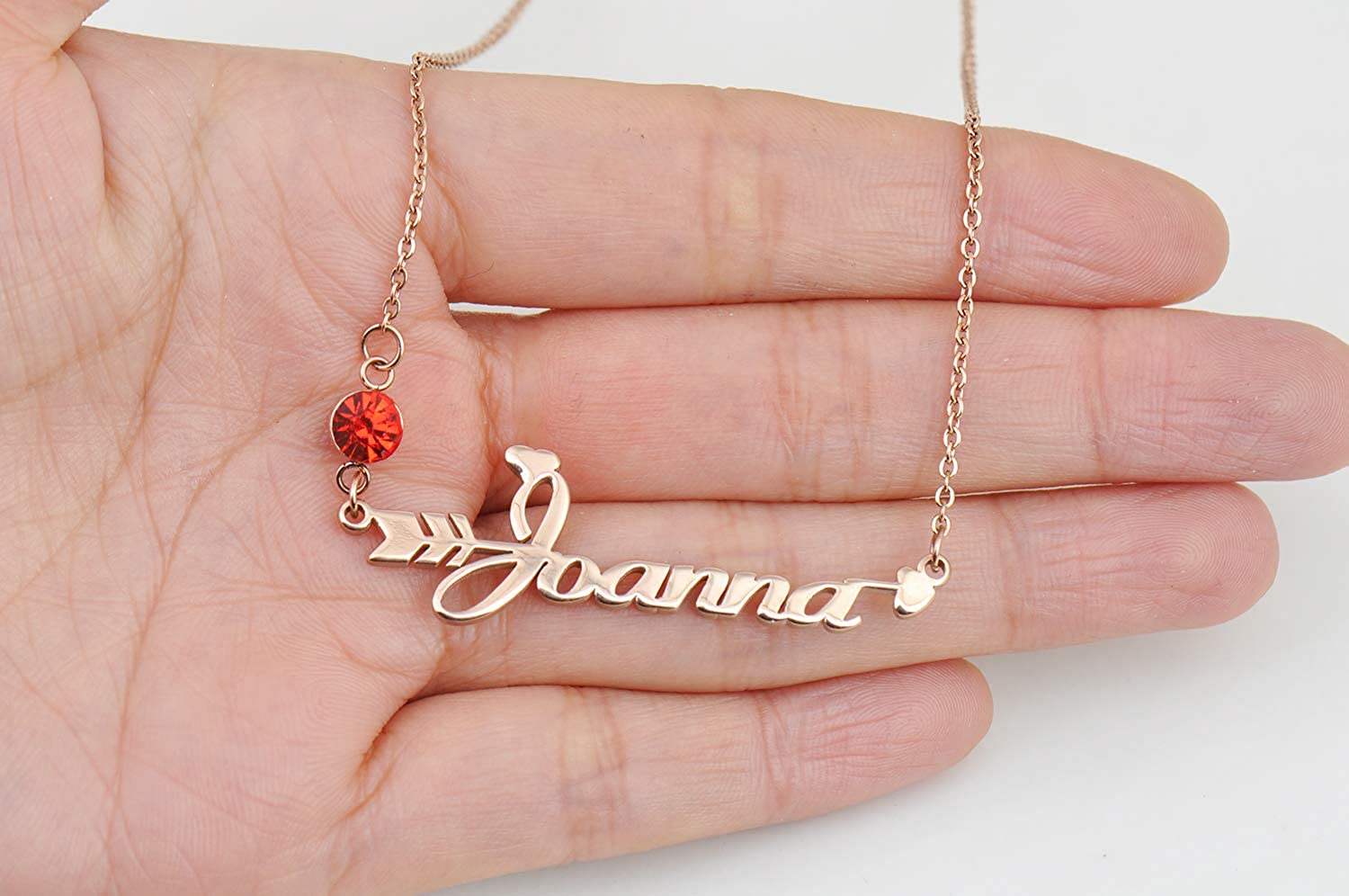 HUAN XUN Personalized Peronalized My Custom Name Necklace Jada Old English Jewelry