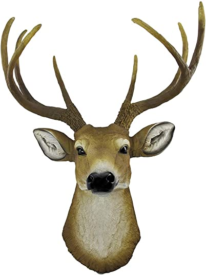 Private Label Lifelike Faux 8 Point Buck Deer Head Bust Wall Mount Hanging 23 inch
