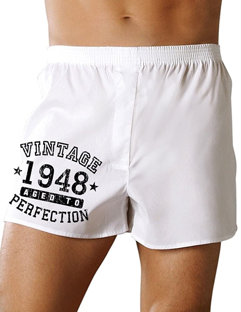 Vintage Birth Year Boxers Shorts Brand TooLoud 1948