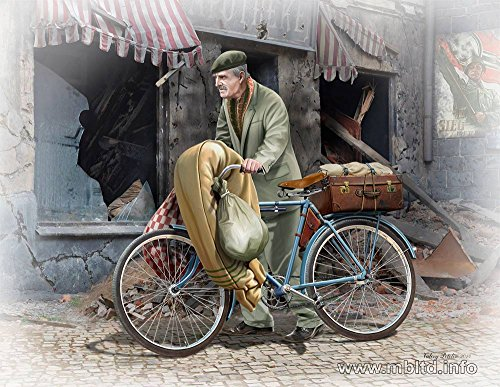 (Master Box Models The Price of War European Civilian 1944-1945 Model Kit with Bicycle and Photo Etched Parts (1/35 Scale))
