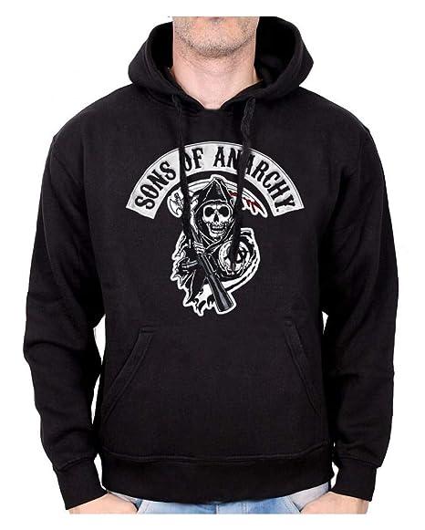 Horror-Shop Sudadera con Capucha Sons of Anarchy Death Reaper S