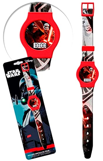 Disney Star Wars Darth Vader Niños Reloj digital kids Watch Reloj de aprendizaje: Amazon.es: Relojes
