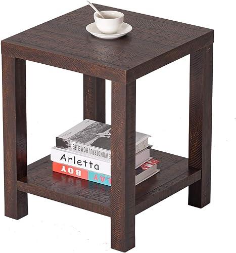 BAOLEJIA Rustic Simple Farmhouse Side Table