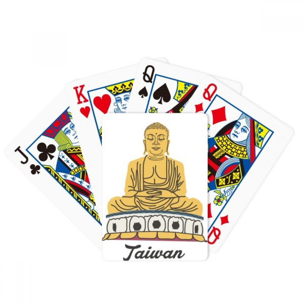 beatChong Attractions Taiwan Travel Buddha China Poker Playing Card Tabletop Board Game Gift by beatChong