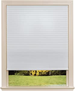 "Easy Lift Trim-at-Home Cordless Cellular Light Filtering Fabric Shade White, 30 in x 64 in, (Fits windows 19""- 30"")"