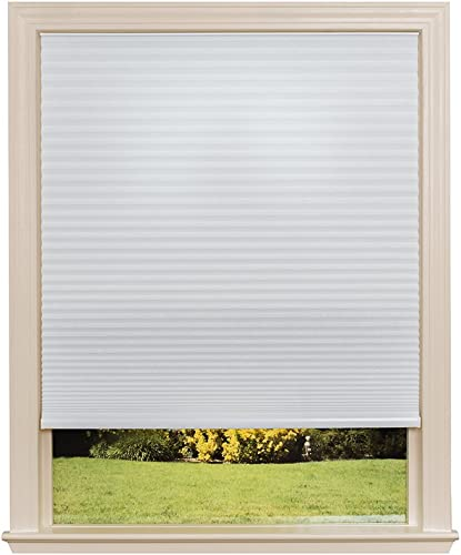 Easy Lift Trim-at-Home Cordless Cellular Light Filtering Fabric Shade White