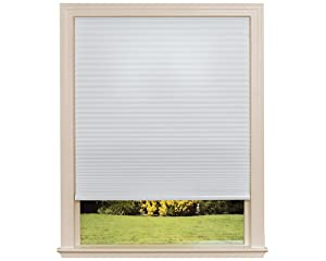 "Easy Lift Trim-at-Home Cordless Cellular Light Filtering Fabric Shade White, 36 in x 64 in, (Fits windows 19""- 36"")"