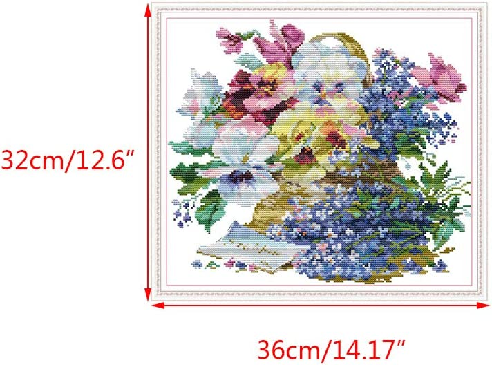 qingqingRFlower DIY Handmade Needlework Counted 14CT Kit per Ricamo a Punto Croce Stampato
