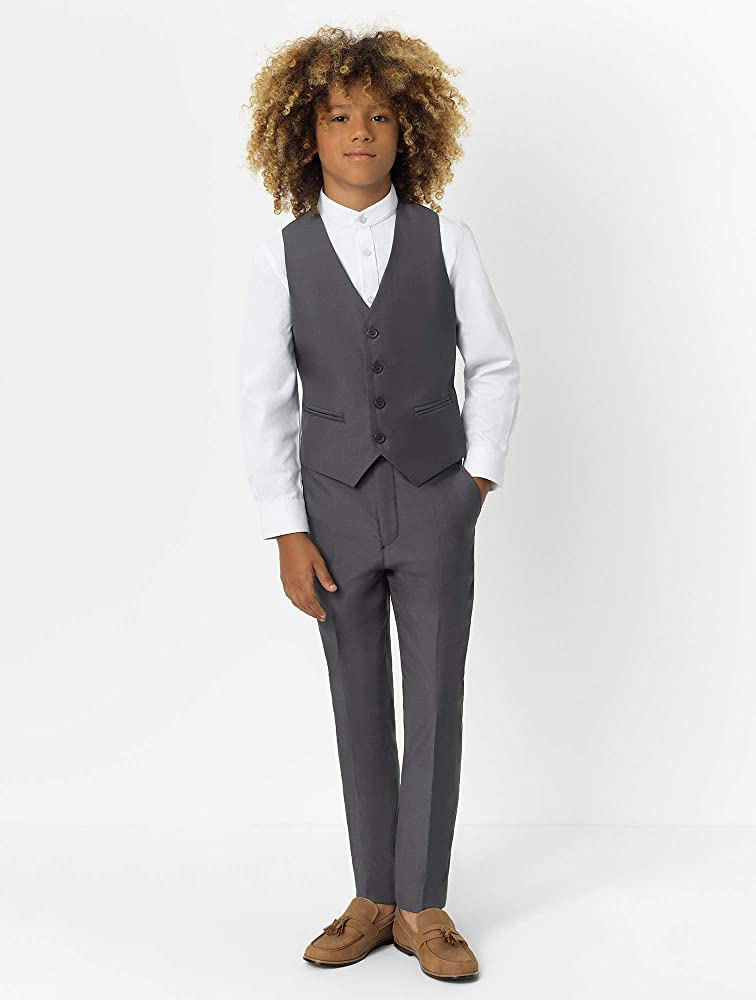 3 Piece Wedding Suit Vest /& Pants Set Jacket X-Large Roco Boys Modern Fit Suit 20