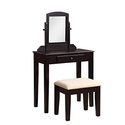 finest selection b272c 2e2a7 Amazon.com: Vanity Table Set with Mirror,JULYFOX Dressing ...