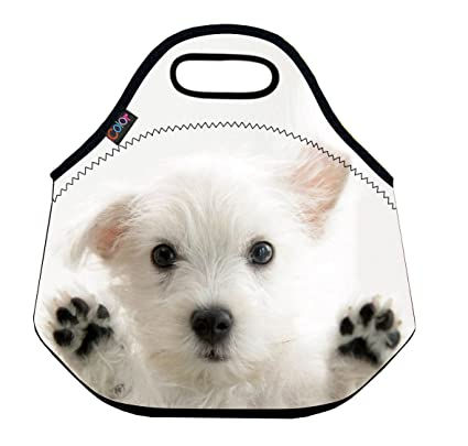 Image Unavailable. Image not available for. Color  ICOLOR Lovely Dog Soft  Insulated Lunch box Food Bag Neoprene Gourmet Handbag ... 4ccb733d68d6d