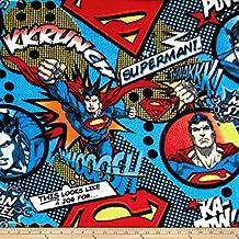 DC Comics A Job For Superman Fleece Multi Fabric By The Yard