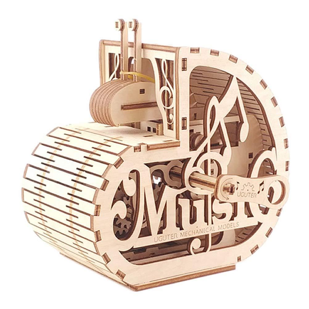 Lhcar 3D Holzpuzzle Schnecke Mechanisches Getriebe SparschweinKreatives Spielzeug für Kinder
