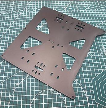 WillBest Anycubic MEGA i3/Prusa i3 - Placa metálica y soporte para ...