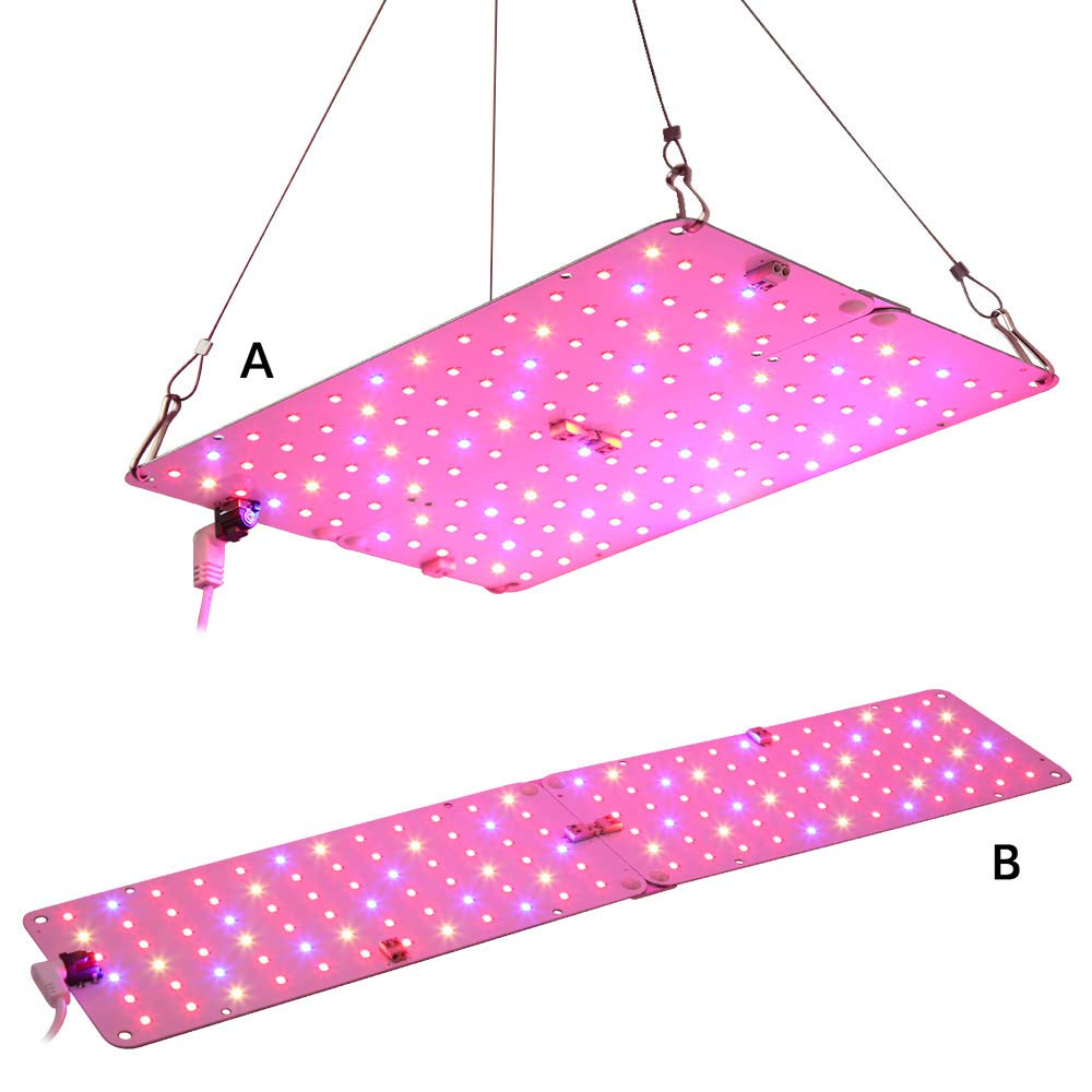 LED Grow Light, Aceple 2 Sizes Configurable 20W Ultra Thin Plant Growing Panel for Greenhouse Hydroponic Indoor Plants Veg Flower