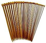 """Stanwood Needlecraft Carbonized Patina 13"""" Single Point Bamboo Knitting Needles 14 Sizes"""