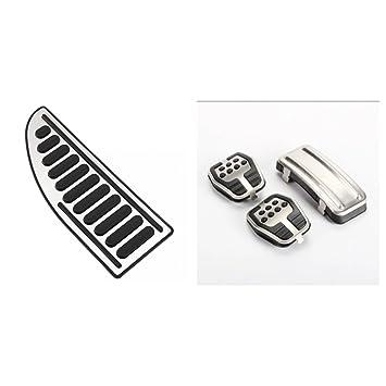Emblema Trading Emblema Tuning Juego de pedales Pedales Pedal tapas Acero Inoxidable reposapiés Izquierda - LHD cambios Engranaje: Amazon.es: Coche y moto