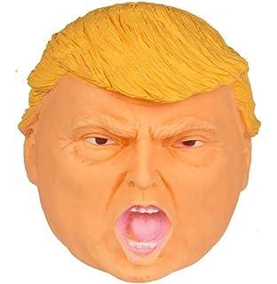 Squidgy Trump Head ~ Aprieta el Presidente Head ~ Joke Gag Anti-Stress Ball ~
