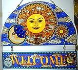 Stained Glass Suncatcher 12'' X 11'' Celestial Harmony Sun Welcome