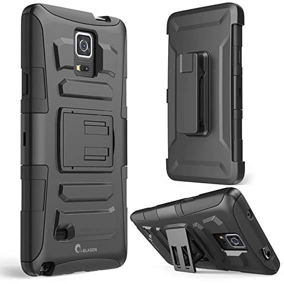 buy popular 93ebb 49f06 Galaxy Note 4 Case, i-Blason Prime Series Dual Layer Holster For Samsung  Galaxy Note 4 [SM-N910S] with Kickstand and Locking Belt Swivel Clip (Black)