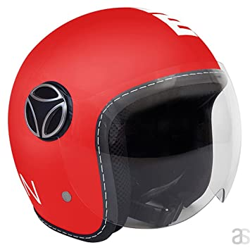 10200000013 Casco Momo Baby Red Matt/White Talla JS