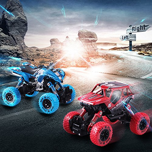 iPlay, iLearn Monster Truck Toys Set, 1:30 Large Pull Back Play Vehicles, Friction Powered, Big Wheels Cars Model, Learning Gift for Age 2, 3, 4, 5, 6, 7 Year Olds, Toddlers, Boys, Girls, Little Kids by iPlay, iLearn (Image #6)