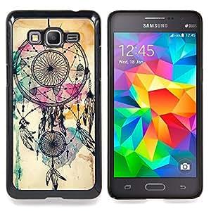"""Catcher indio nativo de la acuarela"""" - Metal de aluminio y de plástico duro Caja del teléfono - Negro - Samsung Galaxy Grand Prime G530F G530FZ G530Y G530H G530FZ/DS"""