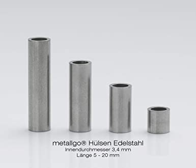 Metallgo - Casquillos de acero inoxidable M3 (diámetro ...