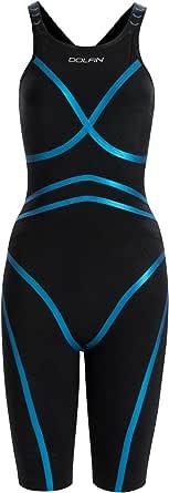 DOLFIN Women's Lightstrike Bonded Open Back Tight Leg Swimsuit