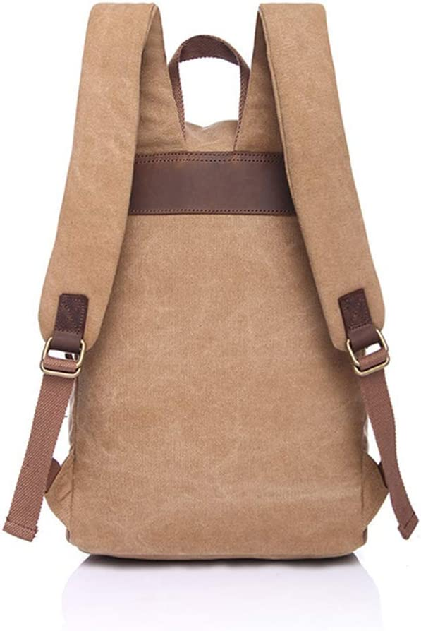 FONKIC Waterproof Canvas Leather Vintage Waxed Canvas Satchel Backpack Durable 31CM42CM15CM