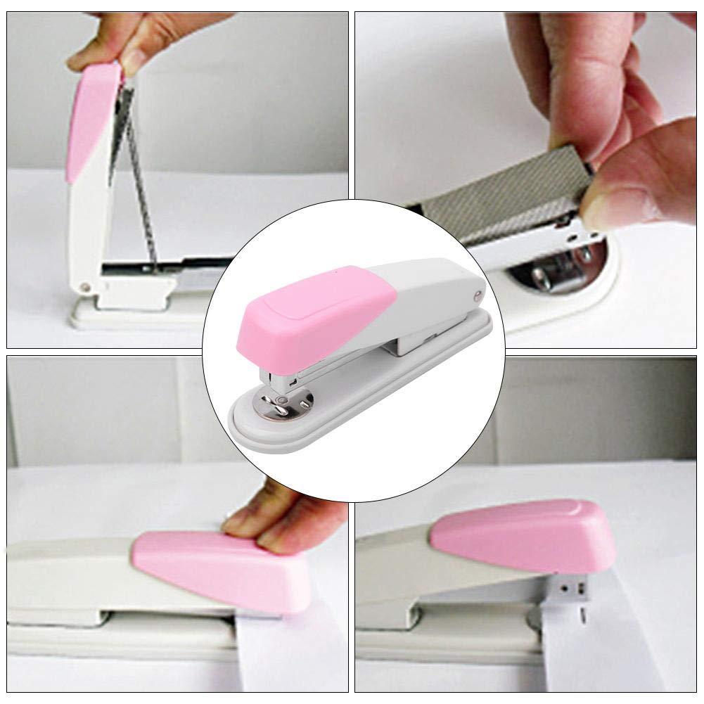 Rosa Cucitrice meccanica per fogli in metallo 20 fogli Cucitrice meccanica per ufficio piccola verde//rosa//arancione