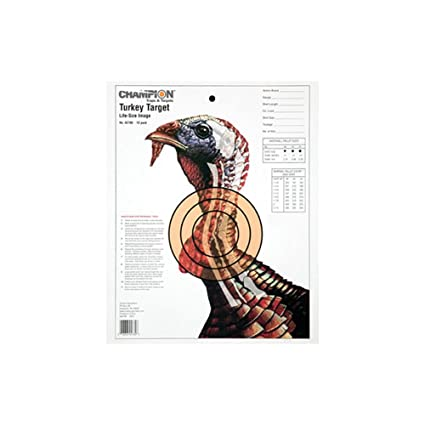 photograph relating to Turkey Targets Printable named Winner Sight-within Daily life-Sizing Turkey Paper Concentration (Pack of 12)