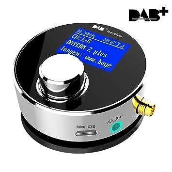 Dual-Use DAB/DAB+ Radio Empfänger mit Verbesserter Omni-Direktional drinnen&draußen SMA DAB Antenne für Autoradio/Heim Stereo