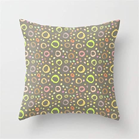 LULABE Circles (15) Throw Pillow Cushion Cover for Couch ...
