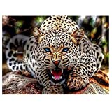 Generic DIY Handmade Diamond Painting Set Angry leopard Resin Rhinestone Pasted Cross Stitch for Home Decoration A40