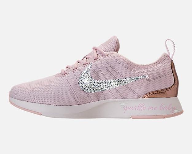Amazon.com  Swarovski Nike Dualtone Racer Blush Rose Bedazzled Shoes Lots  Of Sizes Bling Nike Customized for you by Sparkle Me Baby 2U  Handmade 40e13f7cf