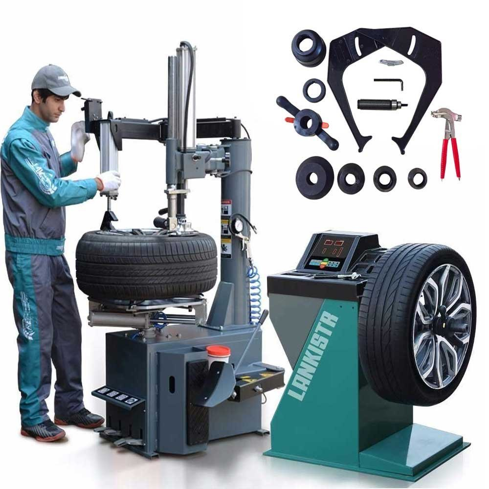 New 988 Tire Changer Wheel Changers Machine Combo LB 137 Balancer Rim Clamp / 12 Month Warranty