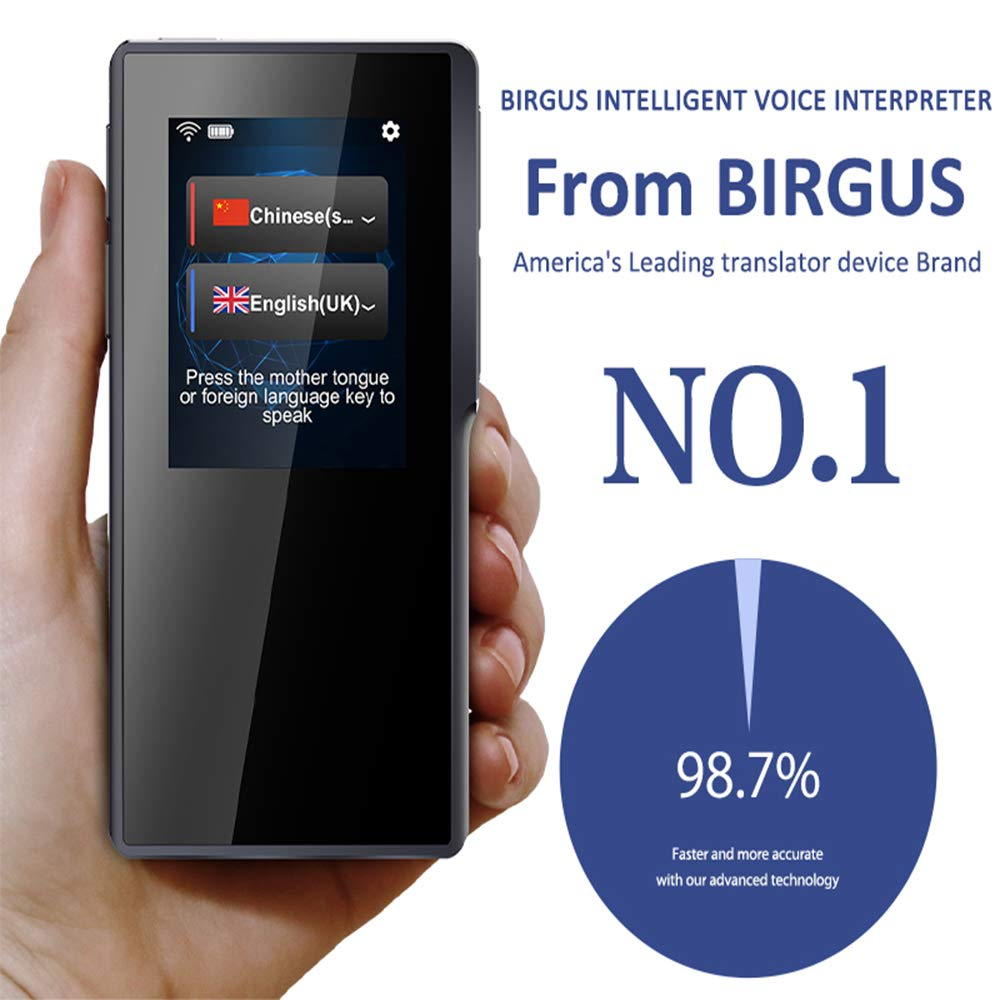 Birgus Smart Voice Translator Device,70 Languages Instant Two Way Translation with 2.4 Inch Touch Screen Portable for Travelling Learning Business Shopping Meeting by Birgus (Image #3)