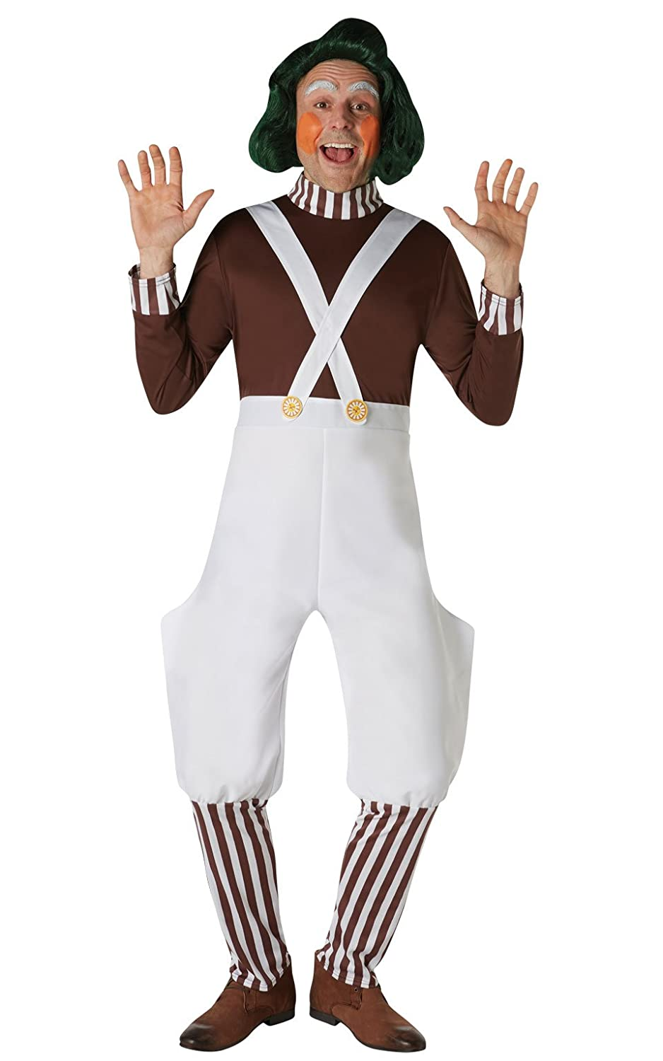 Rubie's Costume Co. Men's Willy Wonka and The Chocolate Factory Oompa Loompa Wig As Shown One Size Rubie's Costume Co 32990