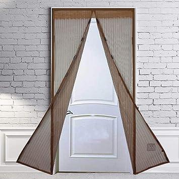 Puerta mosquitera magnética con cortina de malla resistente, mosquitera con imanes, se adapta a
