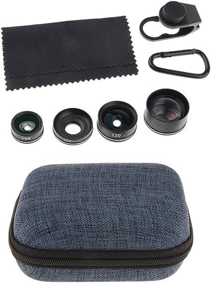 B Blesiya Lentes para Móviles 180° Objetivo con Angular Objetivo Macro 4-en-1 Kit de Lente Conecta con Smartphone: Amazon.es: Electrónica