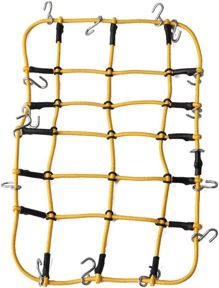 Hehilark 1//10 /Échelle RC Rock Crawler Accessoire Bagages Toiture Net Net Rouge pour D90 D110 Traxxas TRX-4 Trx4 Rc Voiture