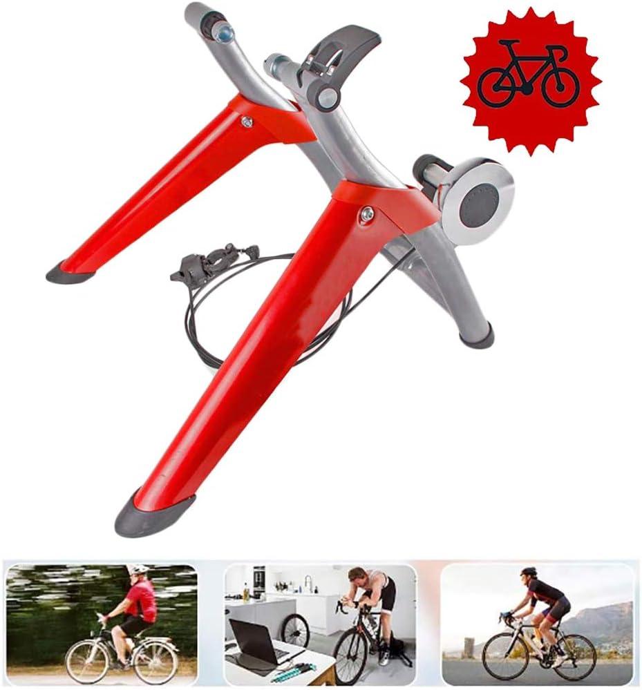 Bicicleta Turbo Trainer - Entrenador magnética bicicletas - 8 niveles velocidad bicicletas Turbo Trainer - cubierta estacionaria ejercicio soporte resistencia magnética cubierta para la Formación,Rojo: Amazon.es: Deportes y aire libre